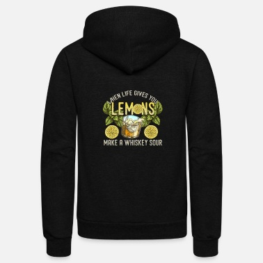 Sour Whiskey Sour Bourbon Cocktail Lovers Drinking Gift - Unisex Fleece Zip Hoodie