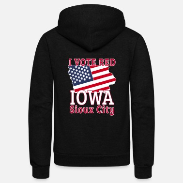 Brand 2020 Presidential Campaign I Vote Red Iowa Sioux - Unisex Fleece Zip Hoodie