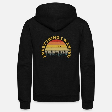 Logo Everything I Wanted Distressed Sunset Gift Music F - Unisex Fleece Zip Hoodie