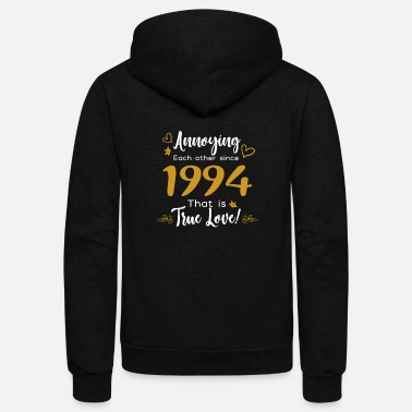 Gold Annoying Each Other Since 1994 That is True Love - Unisex Fleece Zip Hoodie