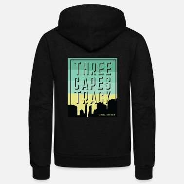 Island Three Capes Track - Tasmania, Australia - Unisex Fleece Zip Hoodie