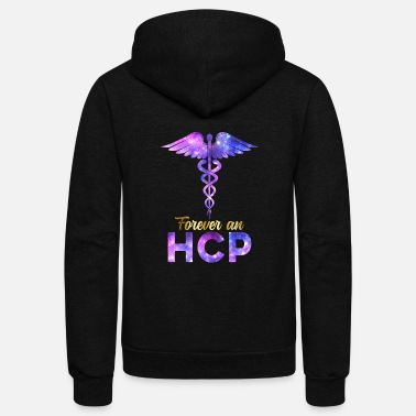 Future Forever A HCP Nurse Week Caduceus Space Nursing - Unisex Fleece Zip Hoodie