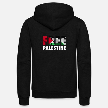 Conflict Free Palestine - The Palestinian Flag Graphic - Unisex Fleece Zip Hoodie