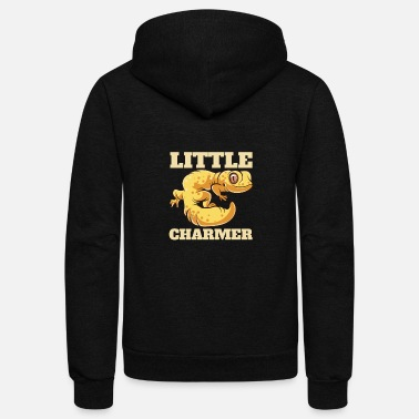 Illustration Reptiles - Gecko Cute Charmer Pet - Zoo - Unisex Fleece Zip Hoodie