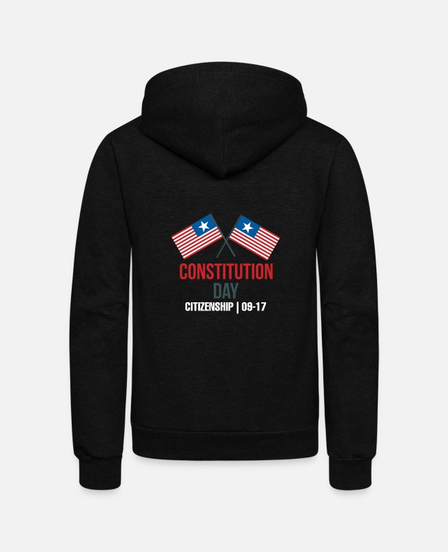 Franklin Hoodies & Sweatshirts - Citizenship Day Constitution Day Citizenship 09-17 - Unisex Fleece Zip Hoodie black