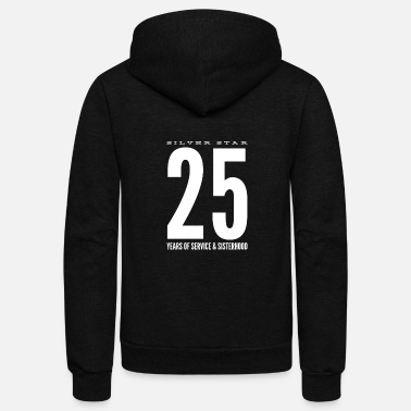 Silver Star - 25 Years of Service & Sisterhood - Unisex Fleece Zip Hoodie