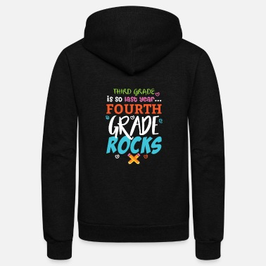 Apparel Fourth Grade Rocks - Unisex Fleece Zip Hoodie