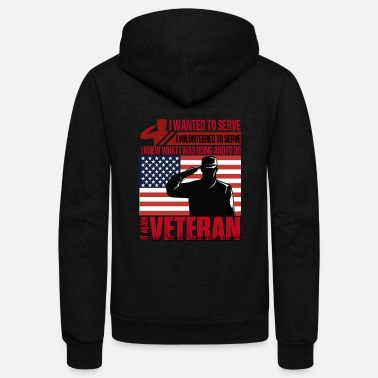 Veterans Volunteered Veteran T Shirt, Veteran T Shirt - Unisex Fleece Zip Hoodie