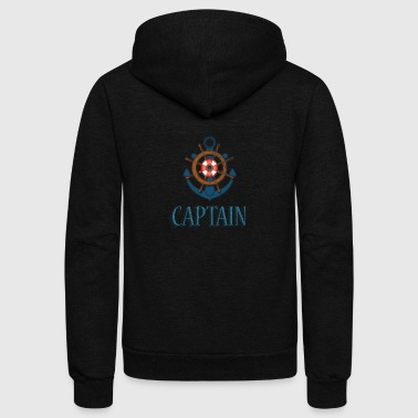 Nautical Captain - Unisex Fleece Zip Hoodie