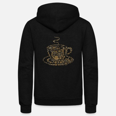 Coffee Bean Coffee Beans - Unisex Fleece Zip Hoodie