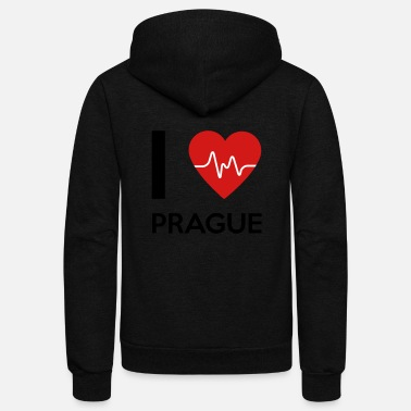 Prague I Love Prague - Unisex Fleece Zip Hoodie