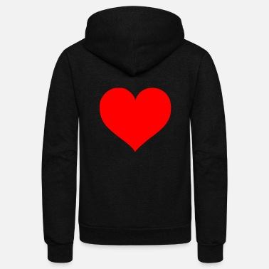 Cuore 2000px Love Heart SVG svg - Unisex Fleece Zip Hoodie