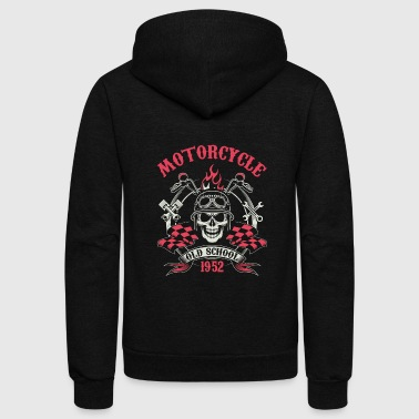 Motocycle Tshirs - Unisex Fleece Zip Hoodie