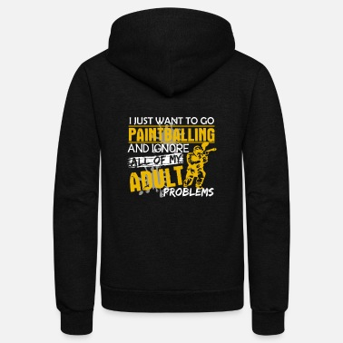 Paintball Paintballing Shirt - Unisex Fleece Zip Hoodie