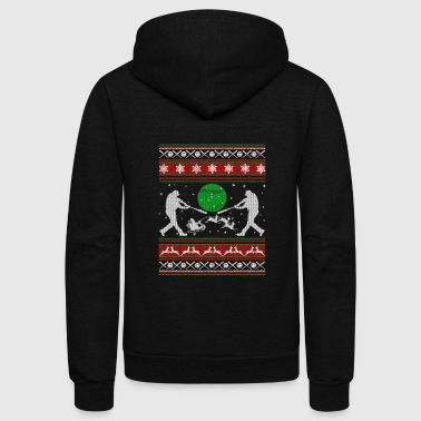 Softball Shirts - Softball Christmas Shirt - Unisex Fleece Zip Hoodie