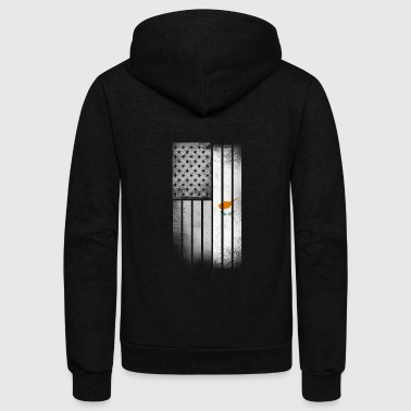 Cypriot American Flag - Unisex Fleece Zip Hoodie