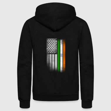 Indian American Flag - Unisex Fleece Zip Hoodie