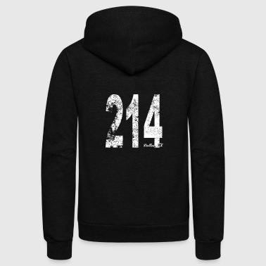 Area Code Vintage Dallas Area Code 214 - Unisex Fleece Zip Hoodie