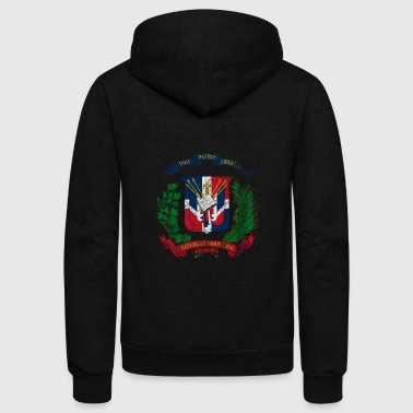 Dominican Coat of Arms Dominican Republic Symbol - Unisex Fleece Zip Hoodie