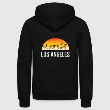Los Angeles Los Angeles Sunset And Palm Trees Beach - Unisex Fleece Zip Hoodie