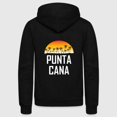 Punta Cana Sunset And Palm Trees Beach - Unisex Fleece Zip Hoodie