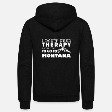 Montana Montana Therapy Shirt - Unisex Fleece Zip Hoodie