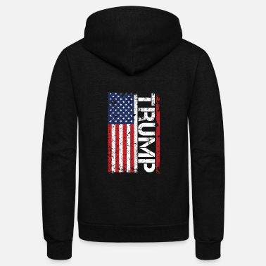 Usa Flag Donald Trump For President USA TShirt - Unisex Fleece Zip Hoodie