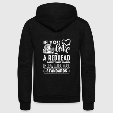 IIf You Love A Redhead Shirt - Unisex Fleece Zip Hoodie