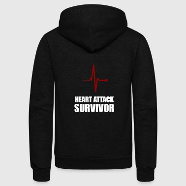 heart attack survivor - Unisex Fleece Zip Hoodie