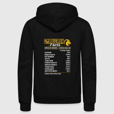 Capricorn Facts Tee Shirt - Unisex Fleece Zip Hoodie