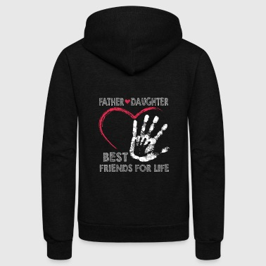 Father And Daughter Father and daughter best friends for life - Unisex Fleece Zip Hoodie