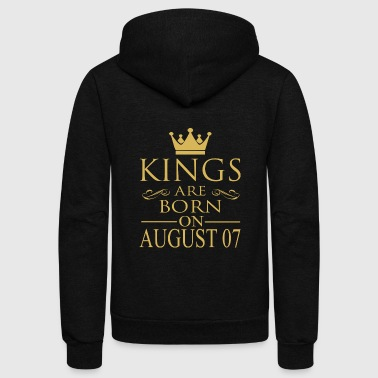 Kings are born on August 07 - Unisex Fleece Zip Hoodie