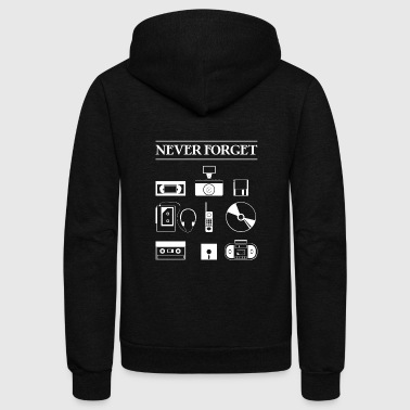 Never Forget - Unisex Fleece Zip Hoodie