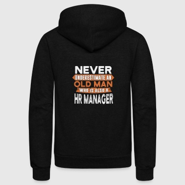 Never underestimate an HR manager - Unisex Fleece Zip Hoodie