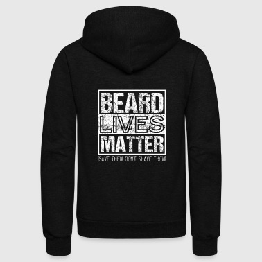 BEARD LIVES MATTER Bearded Men - Unisex Fleece Zip Hoodie