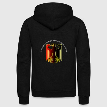 German Eagle T shirt - Unisex Fleece Zip Hoodie