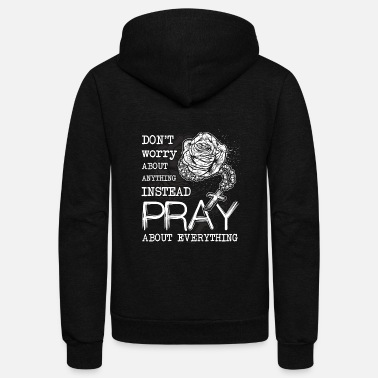 Bible Verse Rosary Church Bible Christian Gift - Unisex Fleece Zip Hoodie