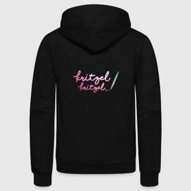 Text Message Kritzel Write Messages Text Saysings Charm - Unisex Fleece Zip Hoodie
