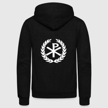Late Roman Empire Imperial Chi Rho T-shirt - Unisex Fleece Zip Hoodie