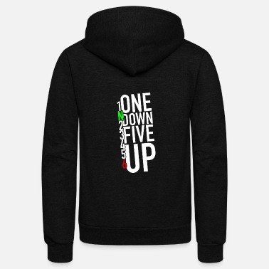 Down One down five up - 1N23456 - Unisex Fleece Zip Hoodie