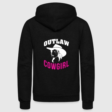 Outlaw Outlaw Cowgirl - Cowgirls - Total Basics - Unisex Fleece Zip Hoodie