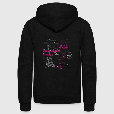 Paris glamour - Unisex Fleece Zip Hoodie