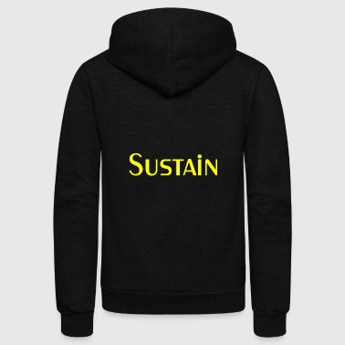 cool sustain yellow - Unisex Fleece Zip Hoodie
