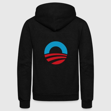 President OBAMA LOGO - Unisex Fleece Zip Hoodie