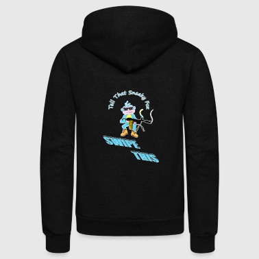 spoof the monkey - Unisex Fleece Zip Hoodie