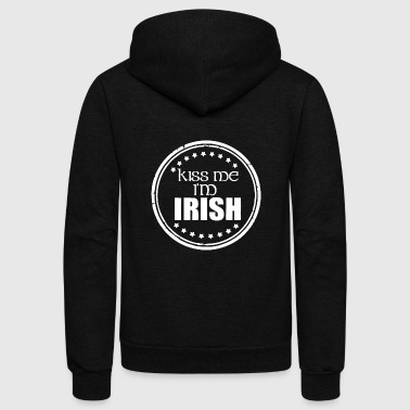 Kiss Me Im Irish Saint Patricks Day - Unisex Fleece Zip Hoodie