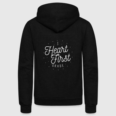I Heart First Grade | Teacher Design - Unisex Fleece Zip Hoodie