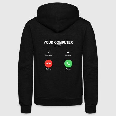 IPhone call Accept Decline - Unisex Fleece Zip Hoodie