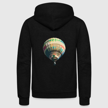 Hot Air Balloon hot air balloon - Unisex Fleece Zip Hoodie