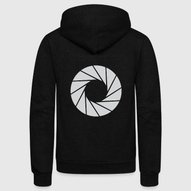 Lens Camera Lens - Unisex Fleece Zip Hoodie